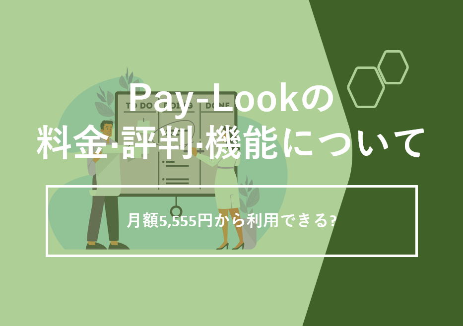 Pay-Look(ペイルック)の料金·評判·機能について。月額5,555円から利用できる?