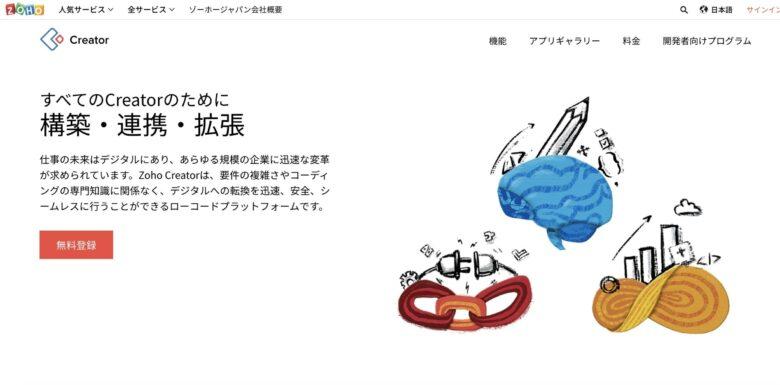 Zoho Creatorの料金·評判·機能について。月額1,200円から使える?