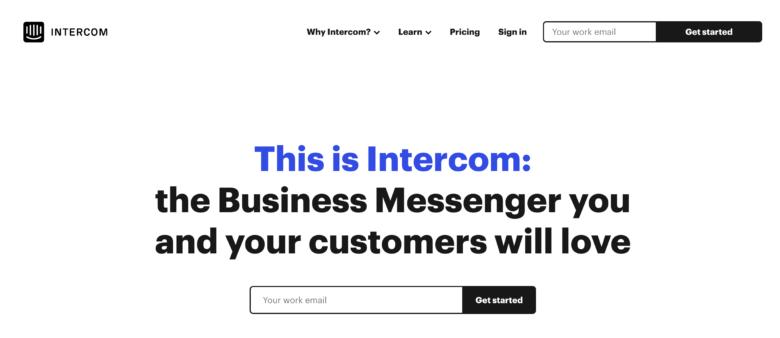 intercom(インターコム)の料金·評判·機能について。月39ドルから利用できる?